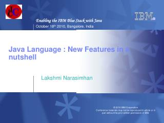 Java Language : New Features in a nutshell