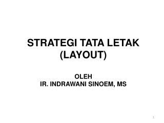 STRATEGI TATA LETAK (LAYOUT) OLEH IR. INDRAWANI SINOEM, MS