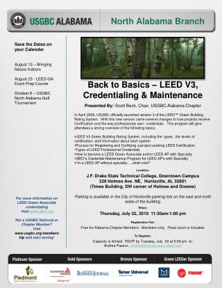 Presented By:  Scott Beck, Chair, USGBC Alabama Chapter