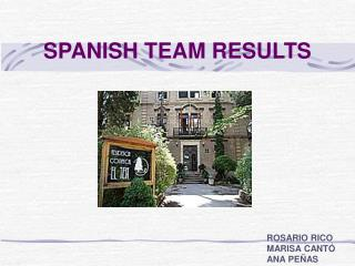 SPANISH TEAM RESULTS