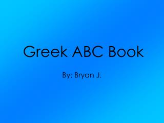 Greek ABC Book