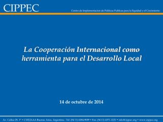 La Cooperación Internacional como herramienta para el Desarrollo Local