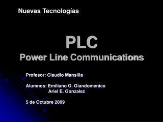 PLC Power  Line  Communications