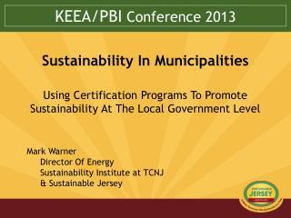 KEEA/PBI  Conference 2013