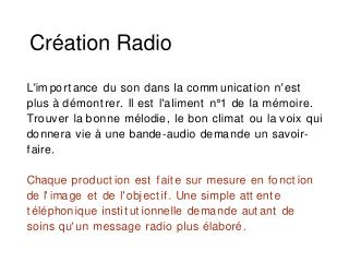 Cr ation Radio
