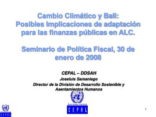 CEPAL –  DDSAH Joseluis Samaniego