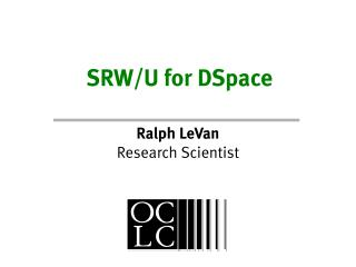 SRW/U for DSpace