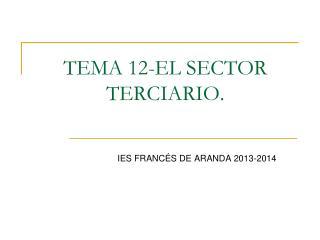 TEMA 12-EL SECTOR TERCIARIO.