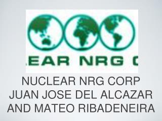 NUCLEAR NRG CORP JUAN JOSE DEL ALCAZAR AND MATEO RIBADENEIRA