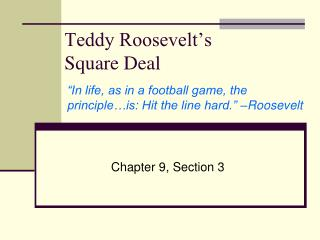 Teddy Roosevelt�s  Square Deal