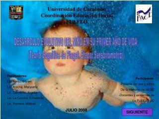Universidad de Carabobo Coordinaci�n Educaci�n Inicial FUEFLO