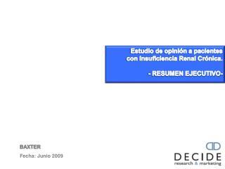BAXTER Fecha: Junio 2009