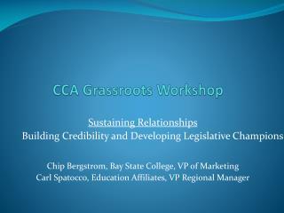 CCA Grassroots Workshop