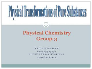 Physical Chemistry Group-3