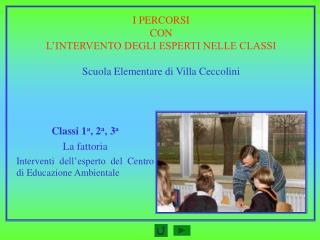 I PERCORSI CON L'INTERVENTO DEGLI ESPERTI NELLE CLASSI Scuola Elementare di Villa Ceccolini