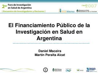 El Financiamiento Público de la Investigación en Salud en Argentina