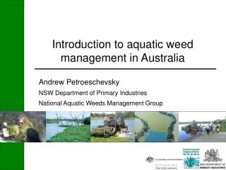 Introduction to aquatic weed management in Australia