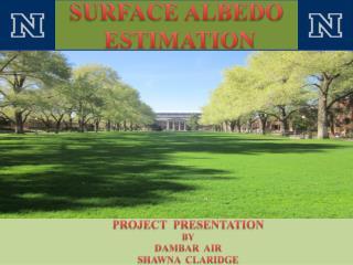 SURFACE ALBEDO  ESTIMATION