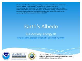 Earth ' s Albedo
