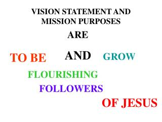 VISION STATEMENT AND MISSION PURPOSES