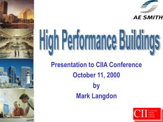 Presentation to CIIA Conference October 11, 2000 by Mark Langdon