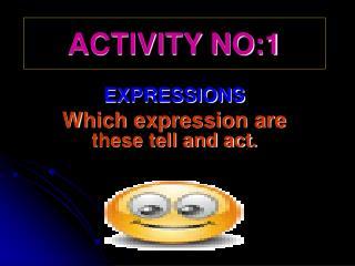 ACTIVITY NO:1