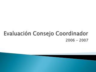 Evaluación Consejo Coordinador