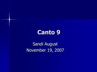 Canto 9