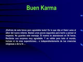 Buen Karma