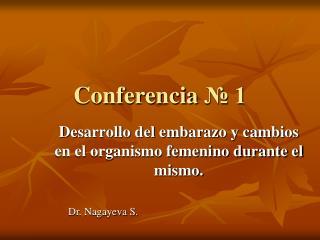 Conferencia  № 1