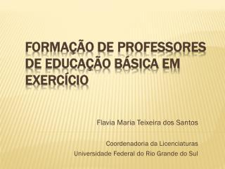 Formação de Professores  de  Educação Básica em exercício