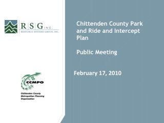 Chittenden County Park and Ride and Intercept Plan Public Meeting