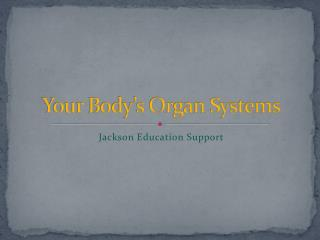 Your Body's Organ Systems