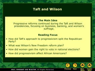 Taft and Wilson