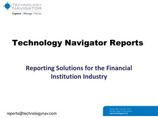 Technology Navigator Reports