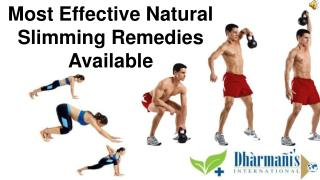 Most Effective Natural Slimming Remedies Available