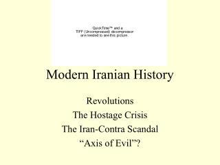 Modern Iranian History