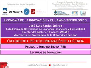 ECONOM A DE LA INNOVACI N Y EL CAMBIO TECNOL GICO