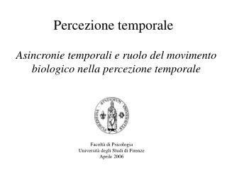 Percezione temporale