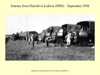 Journey from Nairobi to Lodwar (NFD) – September 1958