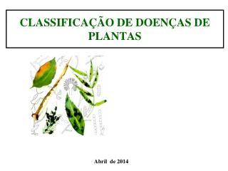 CLASSIFICAÇÃO DE DOENÇAS DE PLANTAS