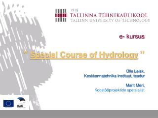 Special Course of Hydrology