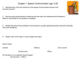 Chapter 1, Speech Communicationpgs. 3-25