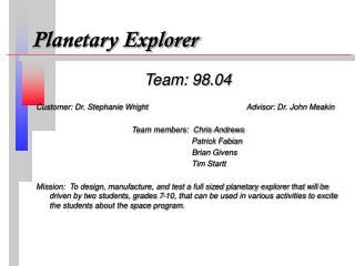 Planetary Explorer