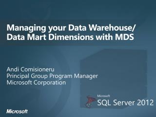 Managing your Data Warehouse