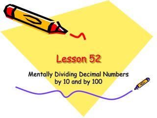 Lesson 52