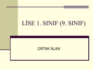 LİSE 1. SINIF (9. SINIF)