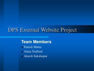 DPS External Website Project