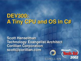 DEV300:   A Tiny CPU and OS in C
