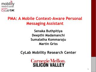 PMA: A Mobile Context-Aware Personal Messaging Assistant